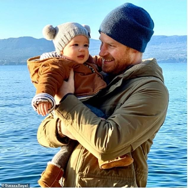 And a new poll in Toronto, a city Meghan lived for seven years, has found that her husband (pictured with Archie in Canada during their six week break there over Christmas) is, after the Queen, regarded as their favourite Windsor