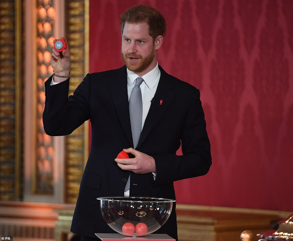 Harry would carry out the draws for the men's, women's and wheelchair tournaments - but was spared the embarrassment of pulling out Canada - the country he plans to move to wife Meghan and Archie