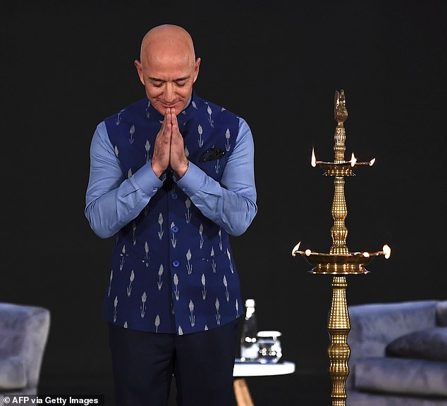 Bezos, who is on a three-day visit, said he wanted to help small and medium sized businesses in India to digitalize