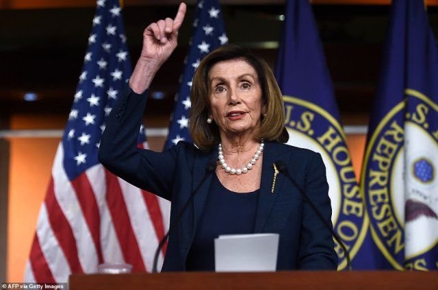 House Speaker Nancy Pelosi held a press conference Thursday, her first since House Democrats delivered the articles of impeachment to the Senate