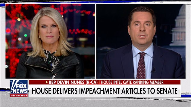 Republican Rep. Devin Nunes, one of the president's fiercest defenders during the impeachment hearings, admitted he did know Parnas after originally denying it