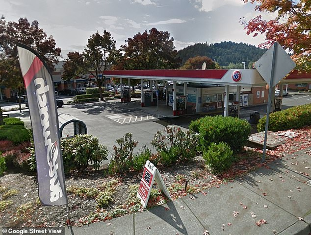 James agreed to meet Marc Eugenio at this gas station, pictured, some 14 miles from the bank