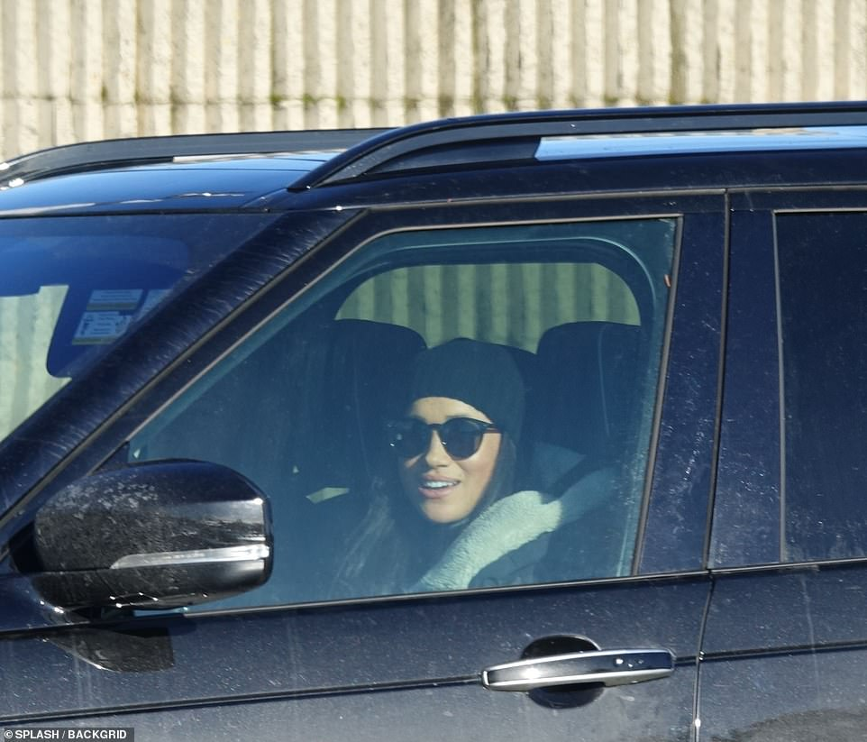 Meghan Markle heads to the Canadian Land Rover airport to find a friend
