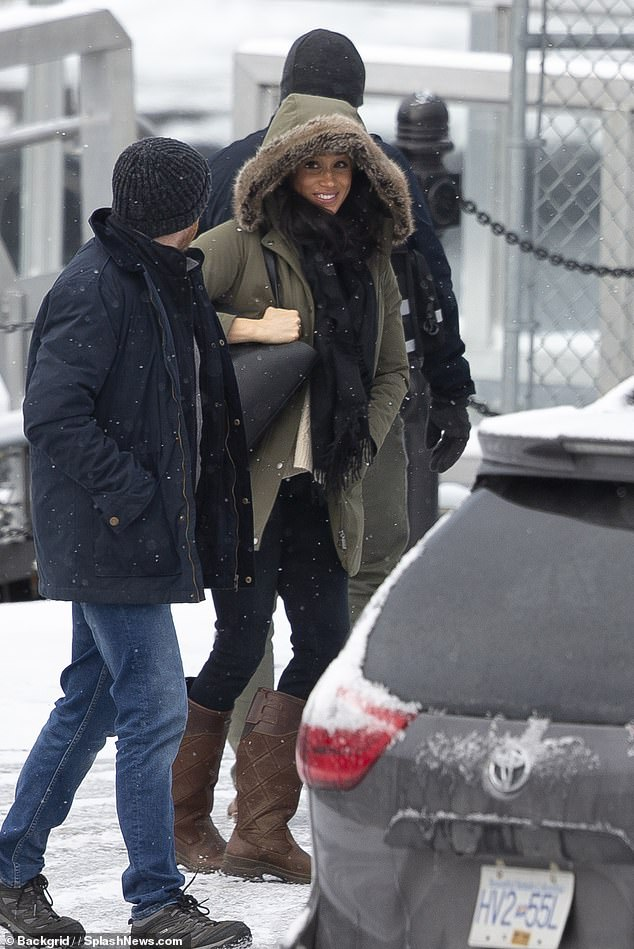 Meghan Markle visited employees at the Downtown Eastside Women's Centre in Vancouver, Canada on Tuesday to 'offer support' and 'boost the staff's spirits', but never actually met any of the500 at-risk women served there