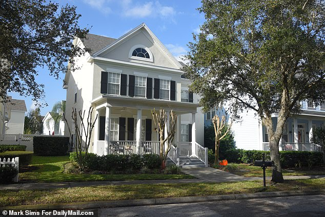 Police entered the home (pictured) of Todt on January 13 and found the decomposing bodies wrapped in blankets at their home in Celebration, Florida, - a gated community designed and developed by Disney