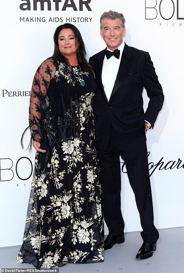 Moving on: Pierce went on to marry Keely Shaye Smith. The pair have been together since 1994 and tied the knot at Ballintubber Abbey in County Mayo, Ireland, in 2001 (above in 2018)