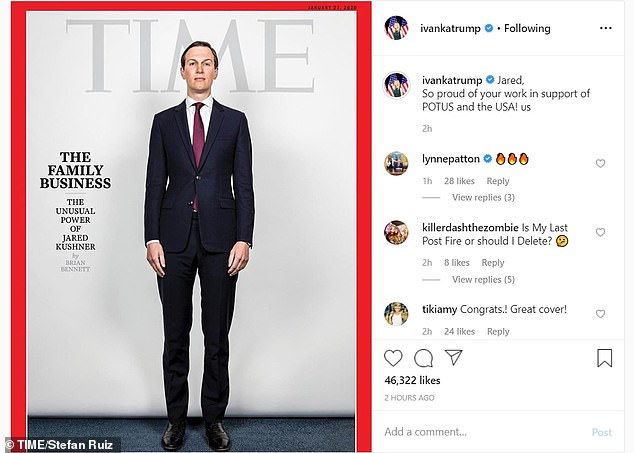 Donald Trump's son-in-law appears in the January 27 issue of Time , where he talks about his struggles in the daunting role he plays in the White House. Many took to social media to make fun of his appearance