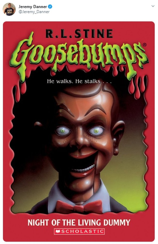 Jeremy Danner shared a cover of a Goosebumps book, suggesting that Kushner looked like the 'Living Dummy' featured on the cover