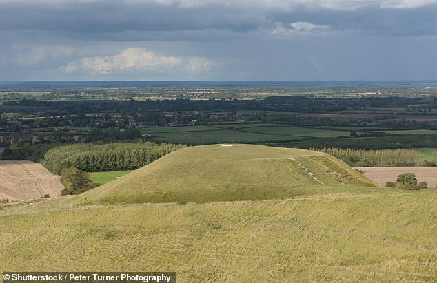 Dragon Hill, pictured, on which, according to legend, St George slew the dragon and the dying beast's blood poisoned the ground forever