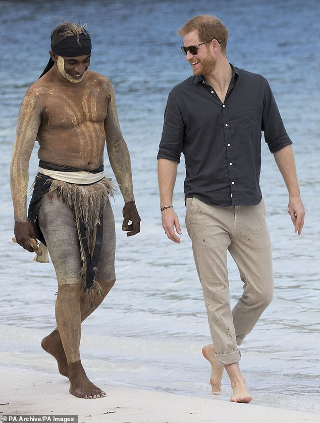 Prince Harry, pictured on a visit to Australia