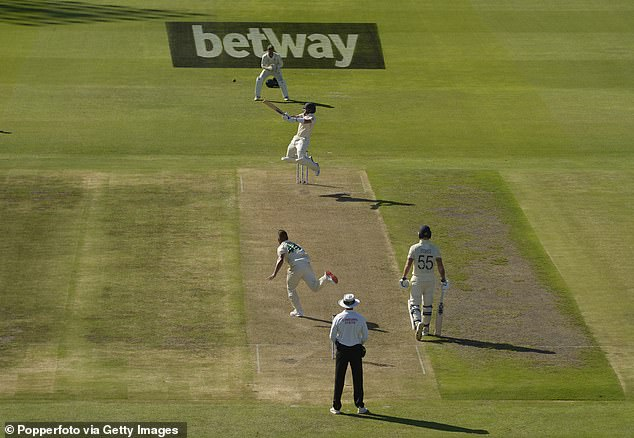 Betway also sponsors England test matches (pictured). While Jones is undeniably guilty of a crime, it is equally undeniable that the encouragements he received outweighed the checks on responsible gambling.