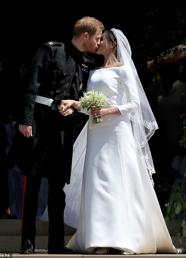 He performed at Prince Harry and Meghan Markle's wedding, they are pictured above on their wedding day
