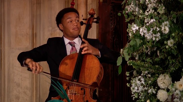 MrKanneh-Mason is pictured above playing at the royal wedding last year. He released his first album months before