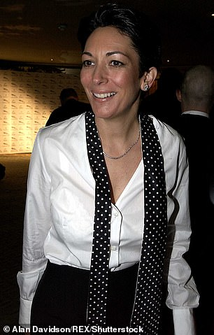 Pictured is Ghislaine at the Dorchester Hotel in London in 2003