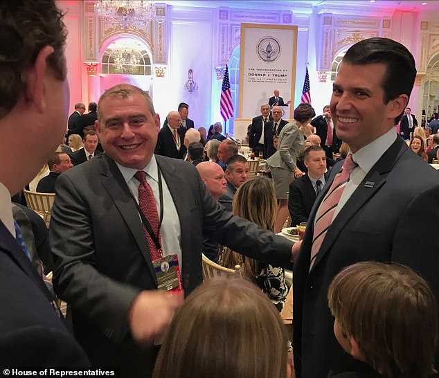 Parnas mingles with Don Trump Jr and Trump Jr's children in one of the photos