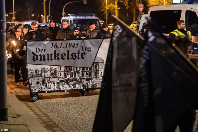 Around 800 police officers were drafted in to Magdeburg for the far right demo and clashed with counter-demonstrators