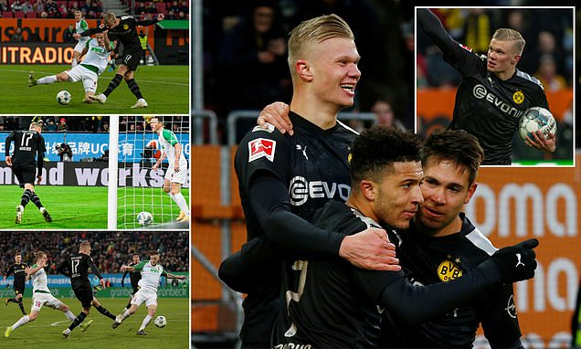 Erling Braut Haaland scores hat-trick off the bench on Dortmund debut