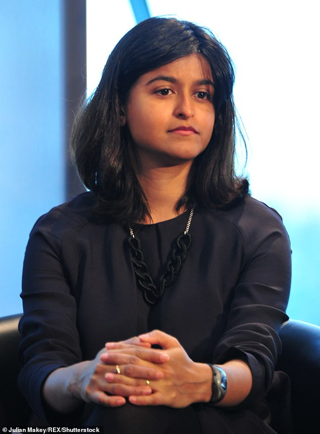 As part of the new drive, Munira Mirza (pictured), head of the No 10 policy unit, is writing to each Secretary of State to outline the key policy priorities they are expected to deliver – and the criteria they will be judged by