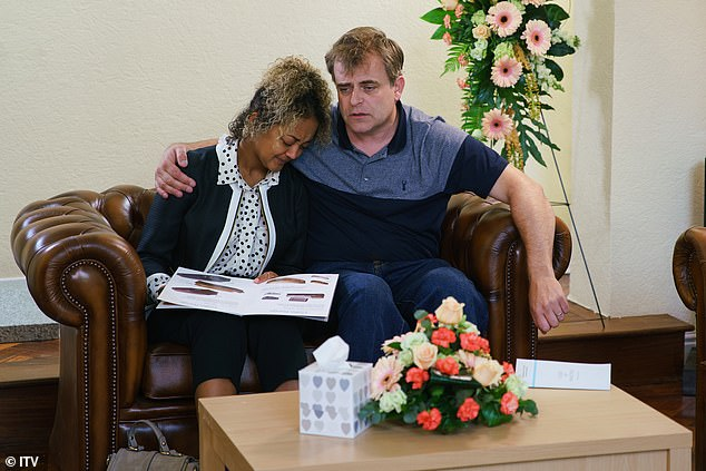 Talented: Actress plays Emma Brooker on the series (above with Simon Gregson as Steve McDonald)