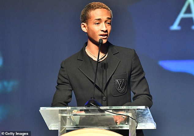 He's a winner: Jaden was the recipient of the Coretta Scott King A.N.G.E.L. Award, named after the late wife of Martin Luther King Jr
