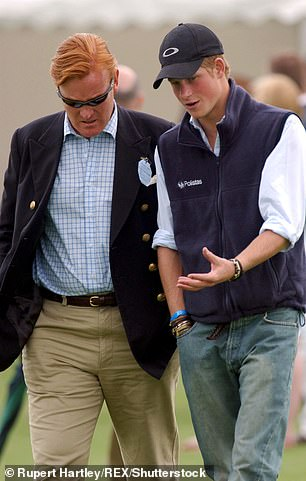 Prince Harry with minder Mark Dyer in 2004. Dyer was a guiding figure as Harry and William tried to come to terms with the loss of their mother
