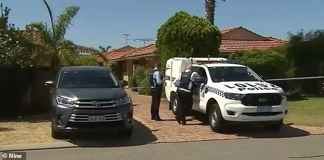 Police have taped off the home and are conducting forensic testing after the husband led them to the body on Saturday afternoon