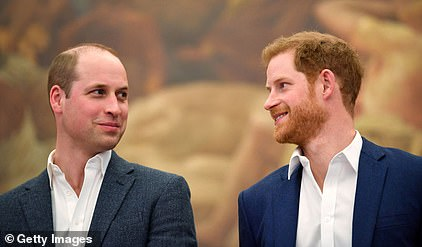 The two-year quarrel stopped after they realised it was 'now or never', with Harry (pictured with his brother in 2018) expected to fly to Canada to rejoin wife Meghan Markle and baby Archie