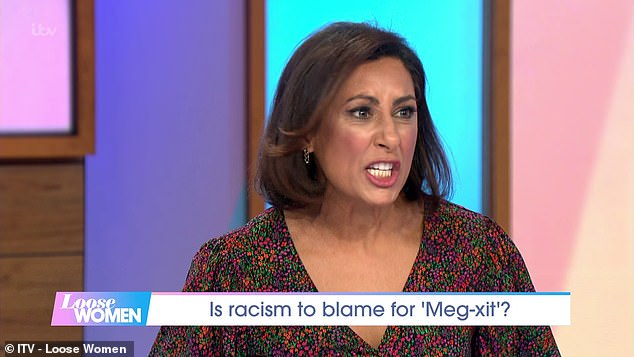"""The female Loire Saira Khan rages that the Duke and Duchess have """"aroused"""" racial tensions"""