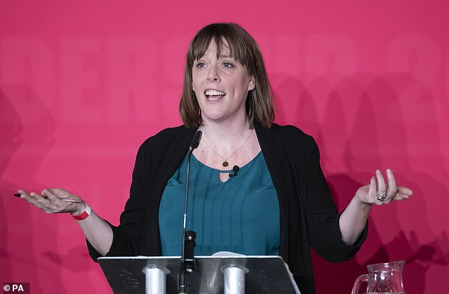 Jess Phillips was hoping that Usdaw backing would help her continue her pitch at the top job. But in statement this afternoon Mr Lillis said: 'Usdaw believes that Keir Starmer and Angela Rayner are the right leadership team to unite and rebuild Labour'
