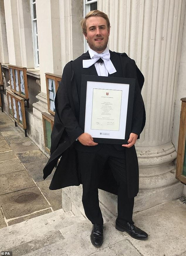 Cambridge graduate Dominic was 24, when hedied of sudden heart failure in the pool at his family home on his brother's 21st birthday party