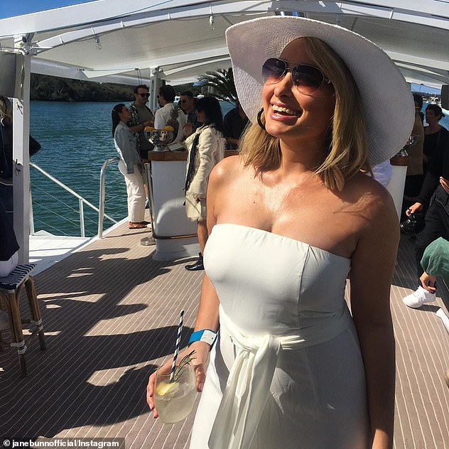 In the public eye:Jane has become one of Australia's most popular TV stars on social media thanks to her cult following among middle-aged men