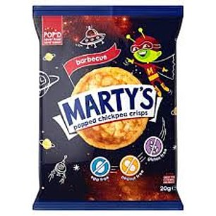 Marty's barbecue flavour popped chickpea crisps, 79p for 20g, ocado.com