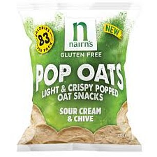 Nairn's pop oats sour cream & chive 50p for 20g, waitrose.com
