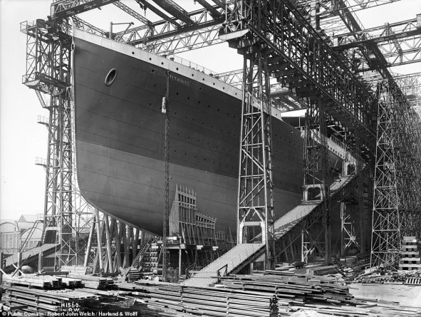 Constructed by Belfast-based shipbuilders Harland and Wolff between 1909 and 1912, the RMS Titanic was the largest ship afloat of her time