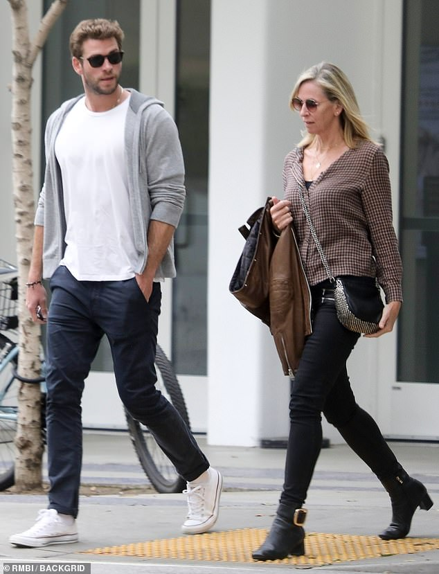 Missing Gabriella? Liam Hemsworth enjoyed lunch with his mother Leonie in LA on Monday... after confirming romance with Australian model