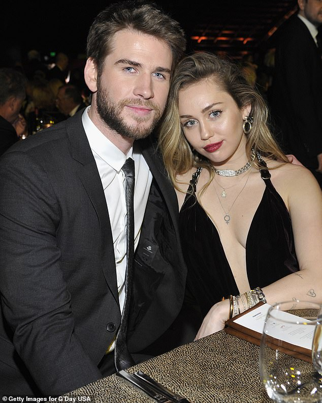 It's over: Liam announced his split from wife Miley Cyrus (pictured) in August 2019, just eight months after their secret wedding at her $8.2million Tennessee mansion