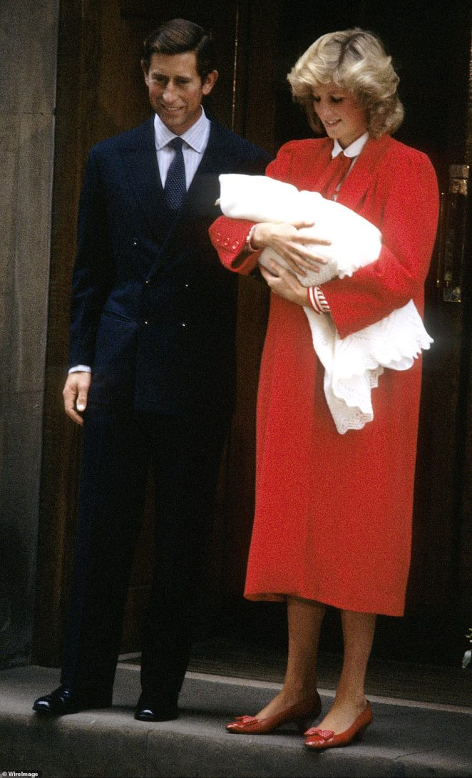 Diana always saw herself as a strong woman, ever vigilant about both her sons, but especially Harry, whom she knew was vulnerable. Pictured:Princess Diana and Prince Charles leaving St.Mary's Hospital in Paddington with Prince Harry in September 1984