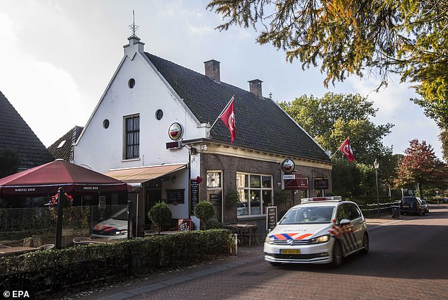 An exterior view of the local pub De Kastelein in the village of Ruinerwold where Jan Zon befriended the owner