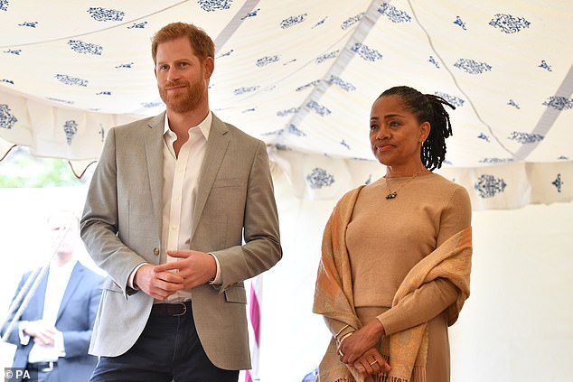 Prince Harry, 35, is said to be relying on the advice of Meghan Markle's, 38, mother Doria Ragland, 63, in the absence of his own mother
