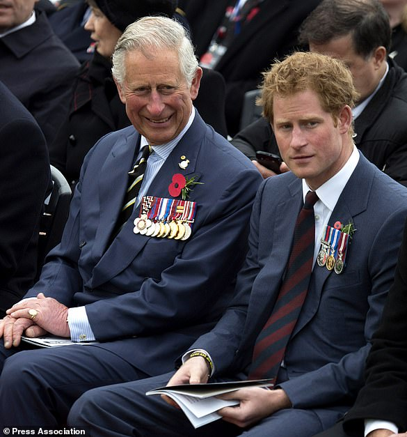 The Prince of Wales with his youngest son, Harry (Paul Edwards/The Sun)