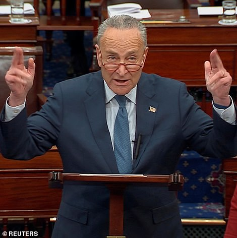 Senate minority leader, Charles Schumer, D-NY.,and Mitch McConnell, the Republican leader, went head-to-head over procedure before the formal start of the trial