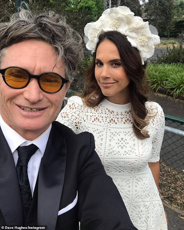 'I don't want to risk it': Dave (pictured with his wife, Holly Ife) said that his uncertainly over how his mind and body will react to alcohol after almost three decades of sobriety keeps him firmly on the wagon