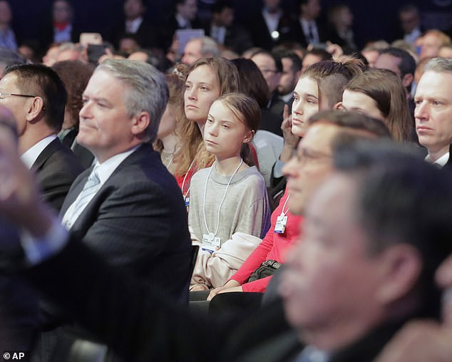 Charles will meetGreta Thunberg for the first time today - the Swedish teenager looked serious as she listened to Trump's speech yesterday