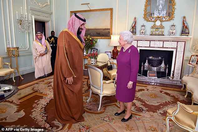 The Saudi Crown Prince also met the Queen as part of his visit to the UK