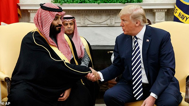 Mohammed bin Salman is accused of hacking Jeff Bezos after they swapped numbers on a US glad-handing tour in 2018. On the same trip he met dozens of other prominent figures, including President Donald Trump