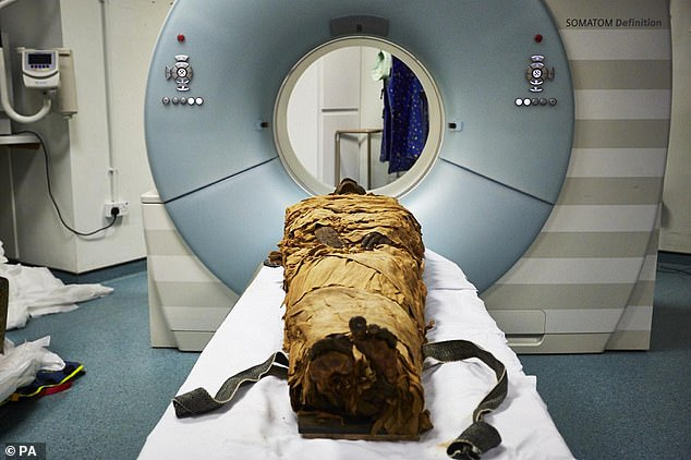 The mummy's remains are so well preserved that his throat, mouth and voice box were mapped using a CT scanner at Leeds General Infirmary and recreated using 3D printing