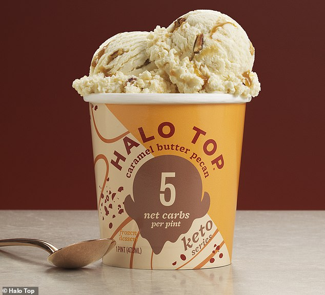 Looks delicious!Caramel Butter Pecan has caramel syrup and pecan pieces