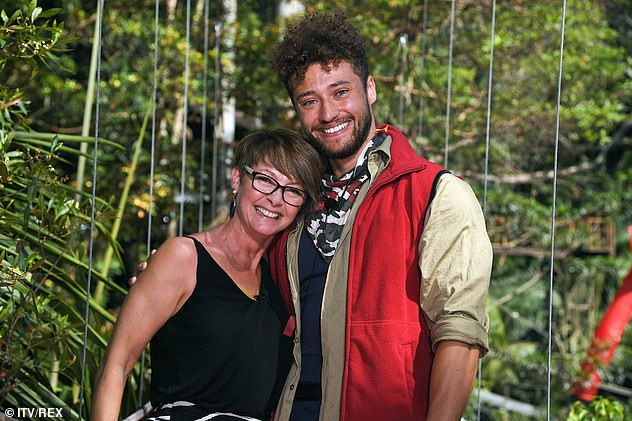Beloved: Myles pictured with his mother Victoria after leaving I'm A Celebrity in December