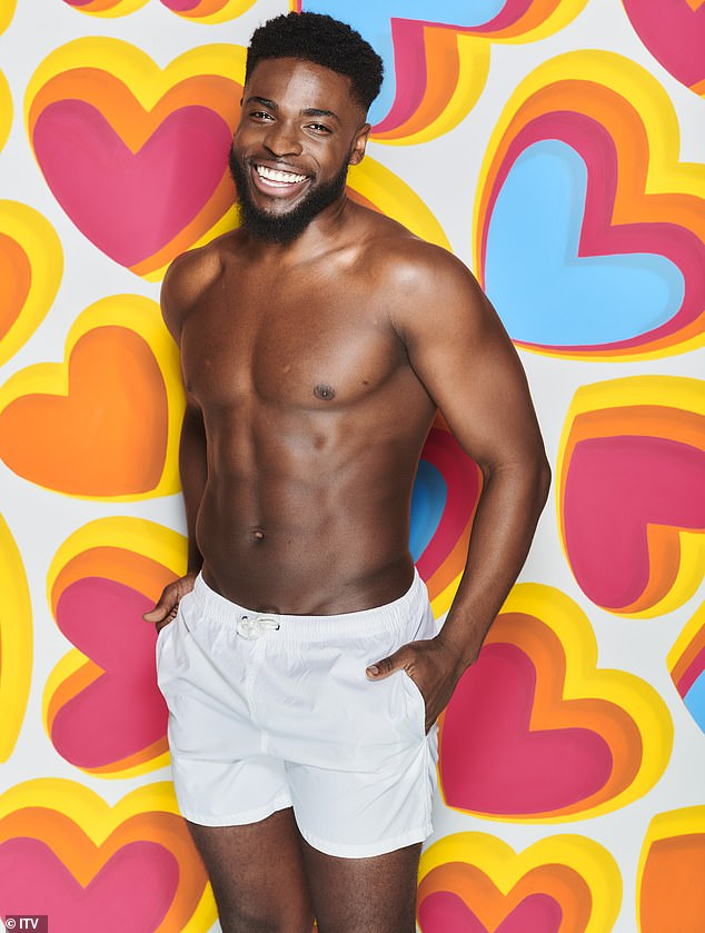 Accusations:Love Island star Mike Boateng has been accused of telling a 17-year-old girl that he can 'show her a good time' while in his police uniform (pictured in a show still)