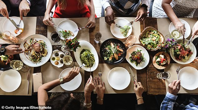 The Future Grazing Report by SilverChef found 33 per cent of Australians were more likely to dine out during the last year, compared to 20 per cent using delivery services (stock image)